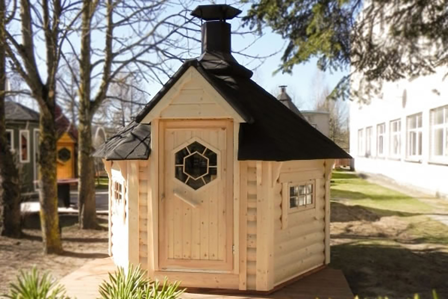 FPL6099 - Extra Small Straight Wall BBQ Hut