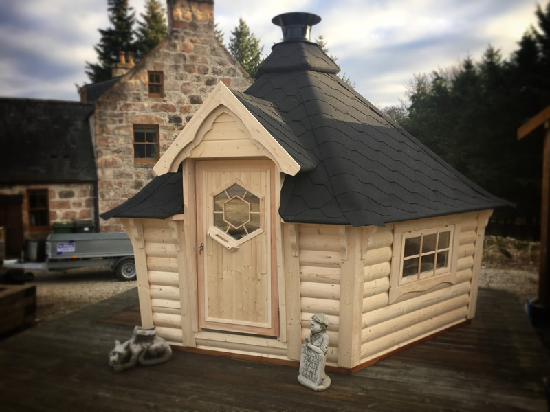 Special Price Medium Sloping Wall Bbq Hut By Forest Log Cabins