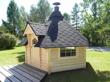 Viking-Medium Straight Wall BBQ Hut Pic 1