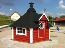 Viking-Medium Straight Wall BBQ Hut Pic 4