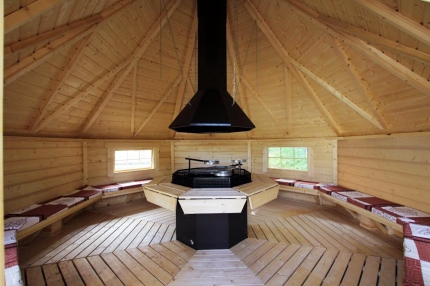 Extra Large Straight Wall Bbq Hut By Forest Log Cabins