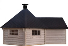 Viking-Medium BBQ Hut with extn Pic 6