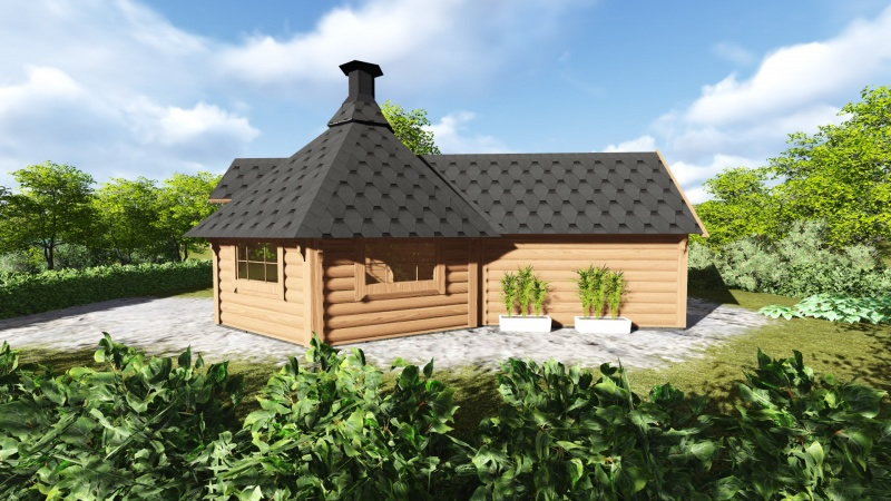 FPL6131 - Medium BBQ Hut with sauna