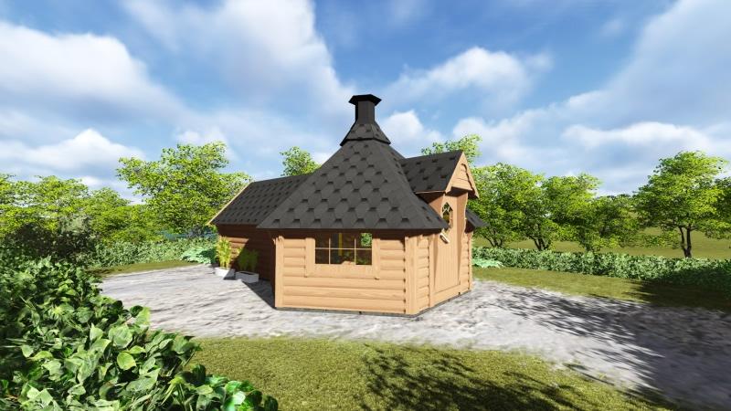 Medium Bbq Hut With Sauna By Forest Log Cabins