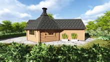 Viking-Medium BBQ Hut with sauna Pic 1