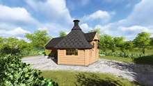 Viking-Medium BBQ Hut with sauna Pic 2