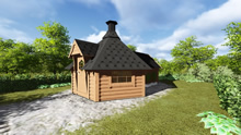 Viking-Medium BBQ Hut with sauna Pic 4