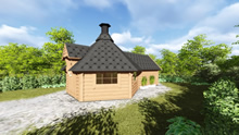 Viking-Medium BBQ Hut with sauna Pic 5