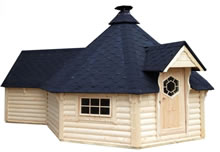 Viking-Extra Large Straight Wall BBQ Hut with extn Pic 1