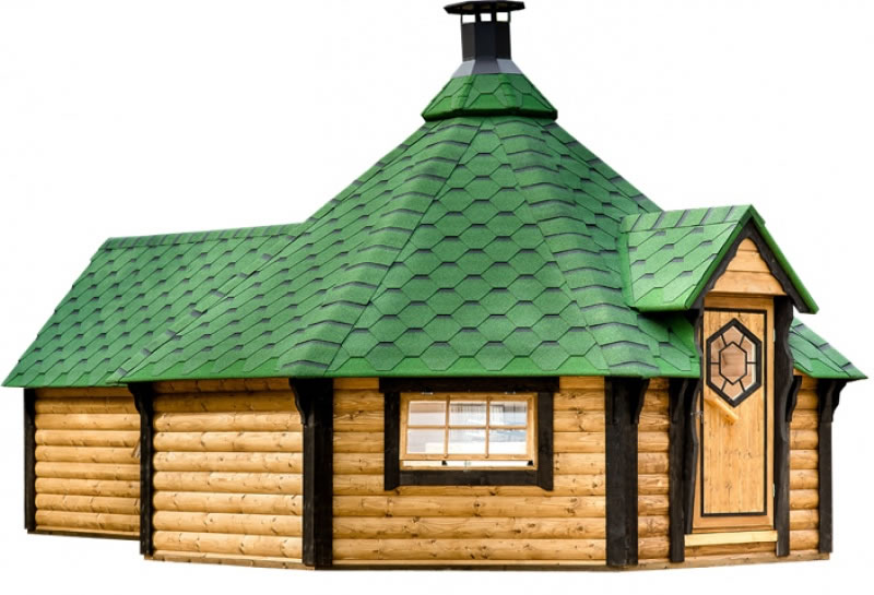 Extra Large Straight Wall Bbq Hut With Sauna By Forest Log