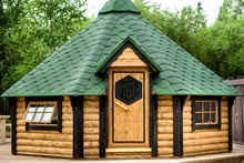 Viking-Extra Large Straight Wall BBQ Hut with sauna Pic 3