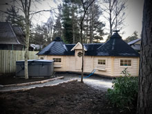 Viking-Medium Twin Straight Wall BBQ Hut Pic 2