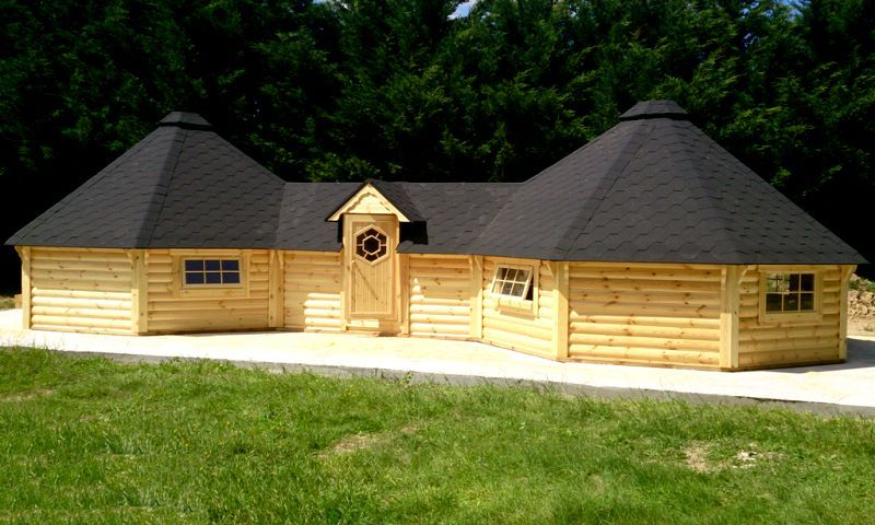 Extra Large Twin Straight Wall Bbq Hut By Forest Log Cabins