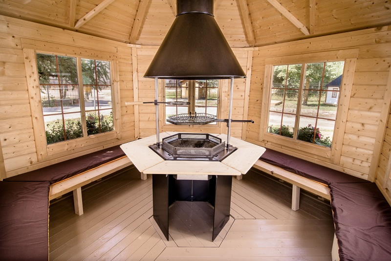 Large Pavillion Bbq Hut By Forest Log Cabins