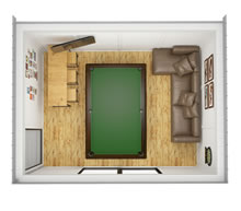 Viking-Insulated Man Cave Cube 3x4 Pic 4