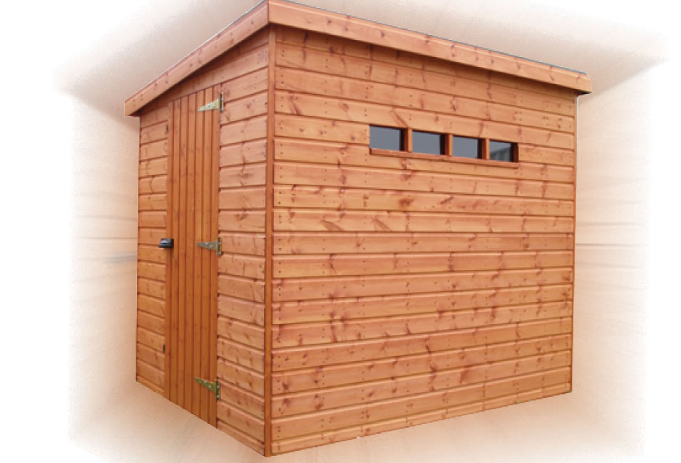 FPL8014 - Security Pent Shed