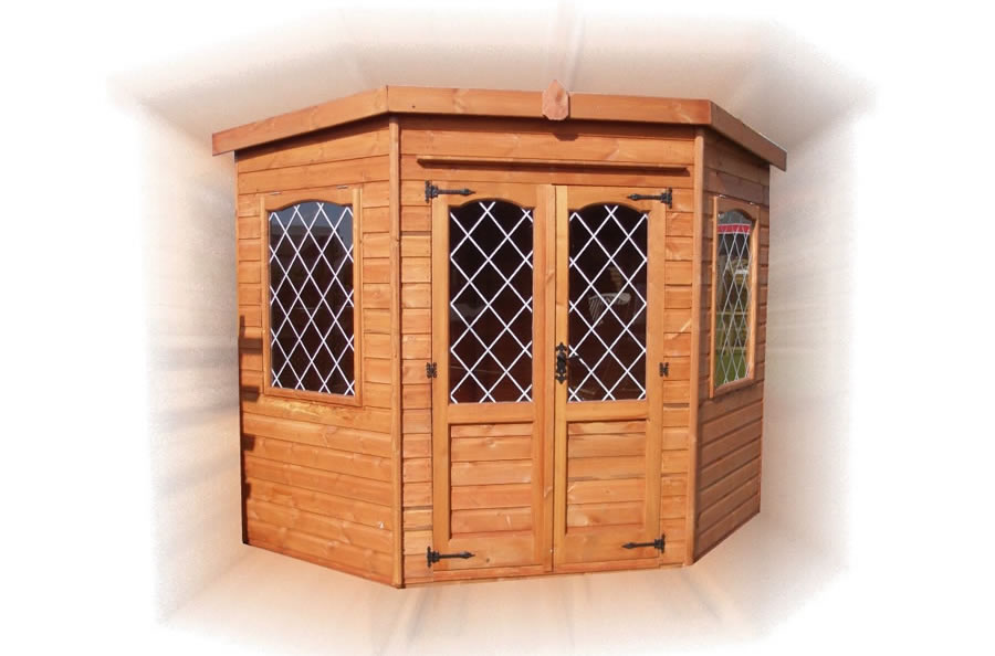FPL8040 - Corner Summerhouse Leaded