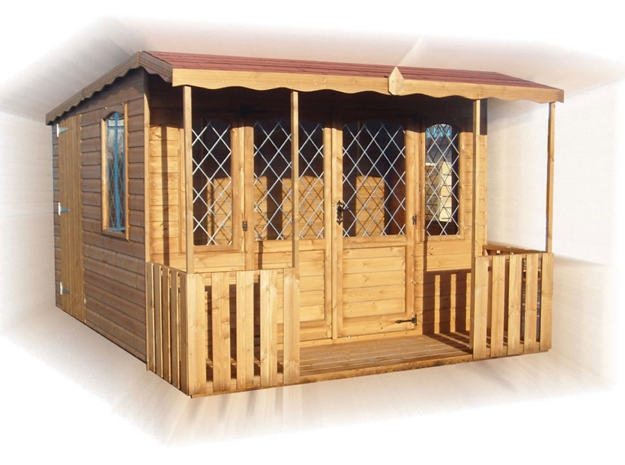 FPL8076 - Dual Pent Summerhouse