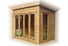 TGB-Pent Summerhouse with Folding Doors Pic 1