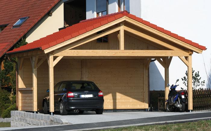 Carport-Prestige-596x506 by Forest Log Cabins