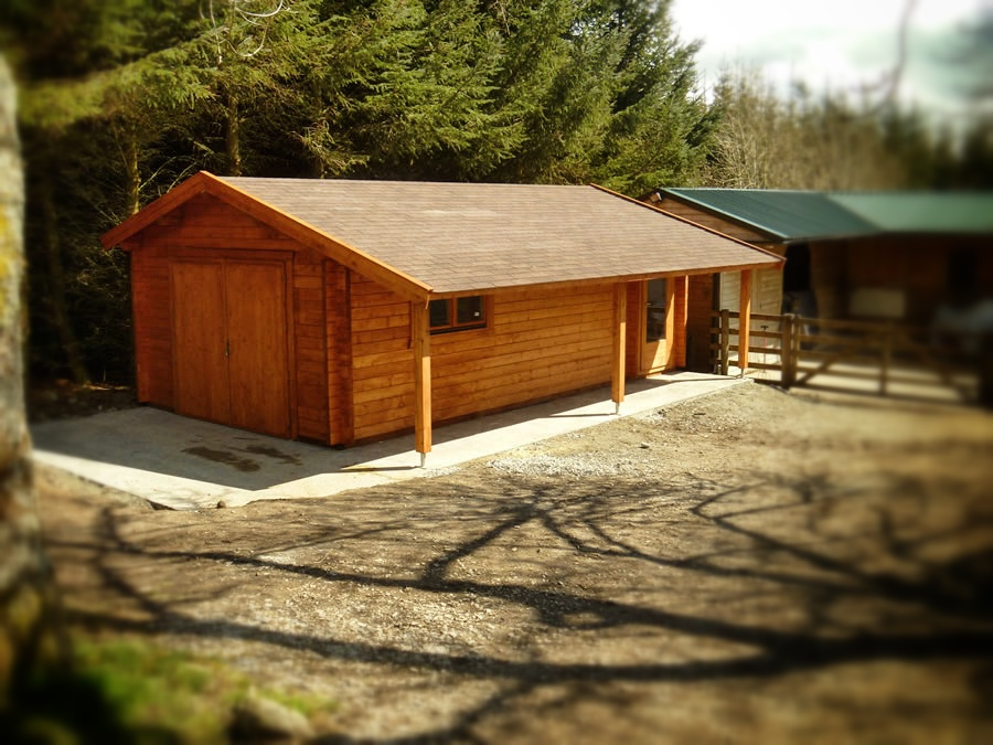Garage Premium 400x750 By Forest Log Cabins And Summerhouses