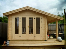 Bertsch Holzbau-300x300 Cabin with side canopy Pic 3