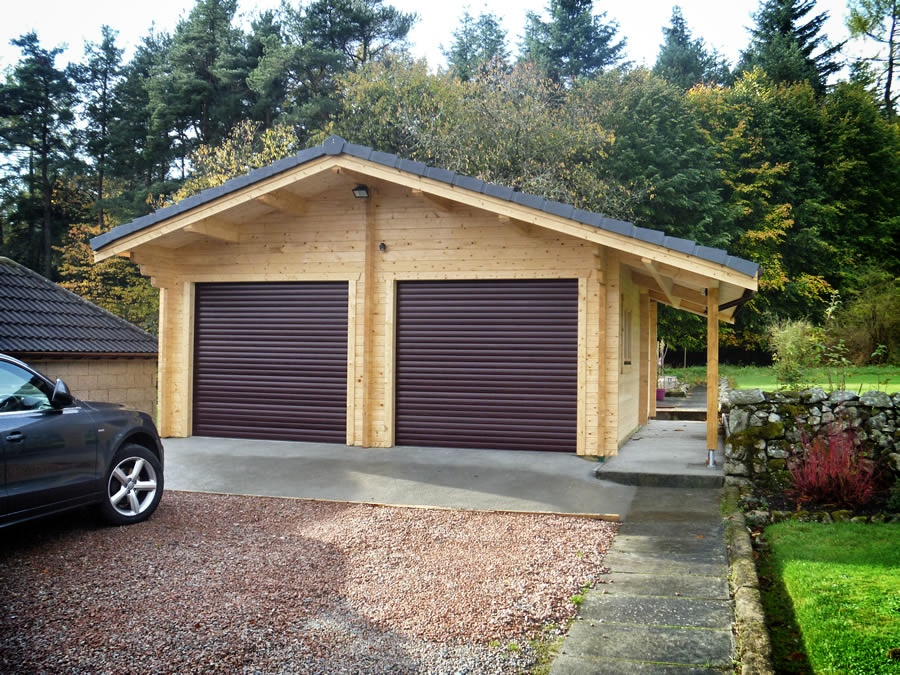 Double Garage 600x800 By Forest Log Cabins And Summerhouses