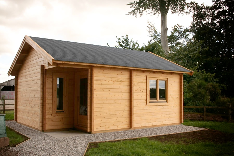 Home office 500x600 by forest log cabins and summerhouses for Home office cabins
