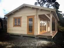 Bertsch Holzbau-Leisure Cabin 600x800 with Integral 150 Canopy Pic 2