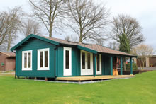 Bertsch Holzbau-Falkland Cabin 500x800 with terrace Pic 1